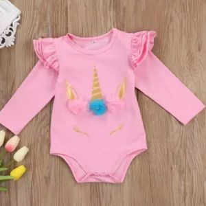 Other - Pink Unicorn Long Sleeve Onesie Bodysuit